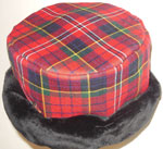 Tartan Pillbox with Faux Fur Edging